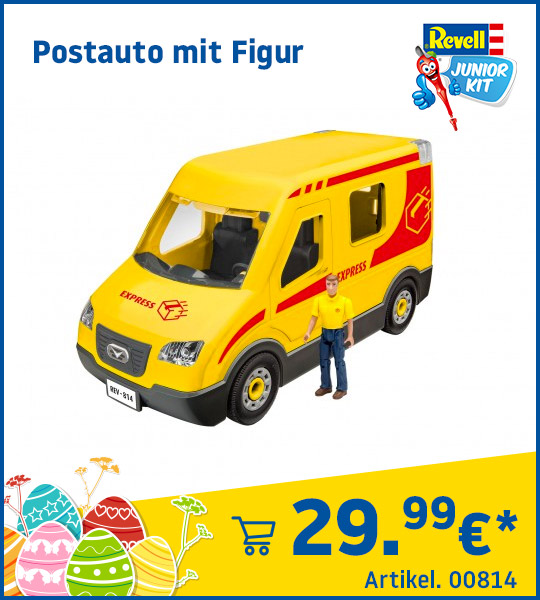 Revell Junior Kit Postauto mit Figur 00814